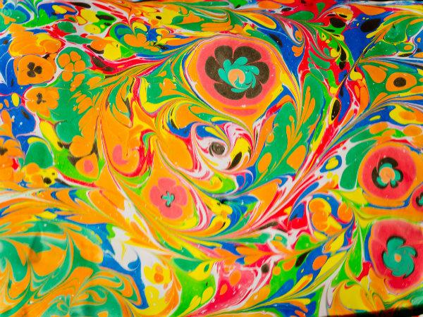 tableau abstrait colore