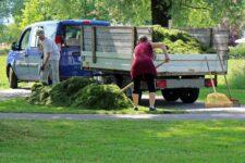 utilitaire camion benne paysagiste